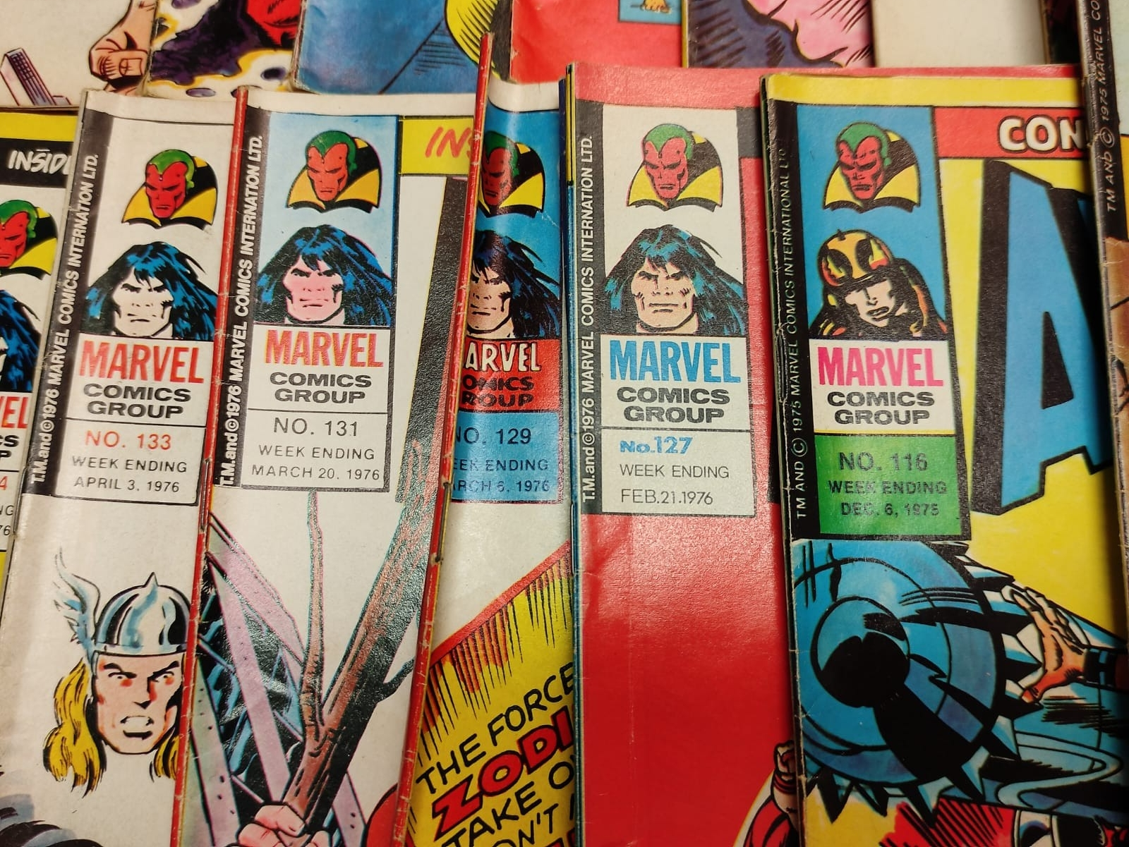 25 x Marvel comics. The Avengers. Dating from 1974-1976 - Image 7 of 18