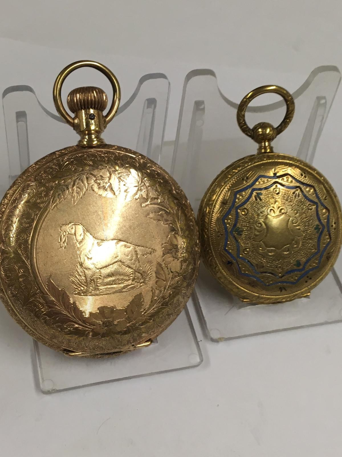 Antique pocket watch cases AF - Image 5 of 8