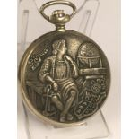 Vintage full hunter pocket watch ( working ), sold with no guarantees.