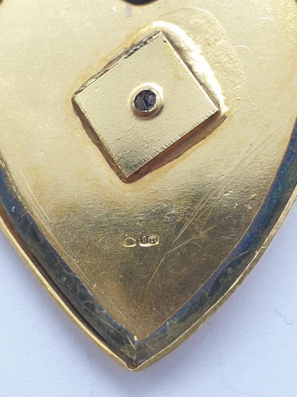Vintage 18ct gold heart LOCKET /PENDANT . 9.7g 3cm - Image 3 of 4