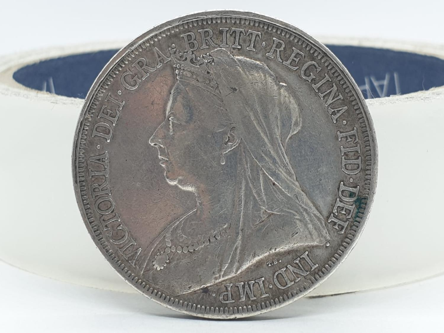 1893 Victorian silver crown - Image 2 of 5