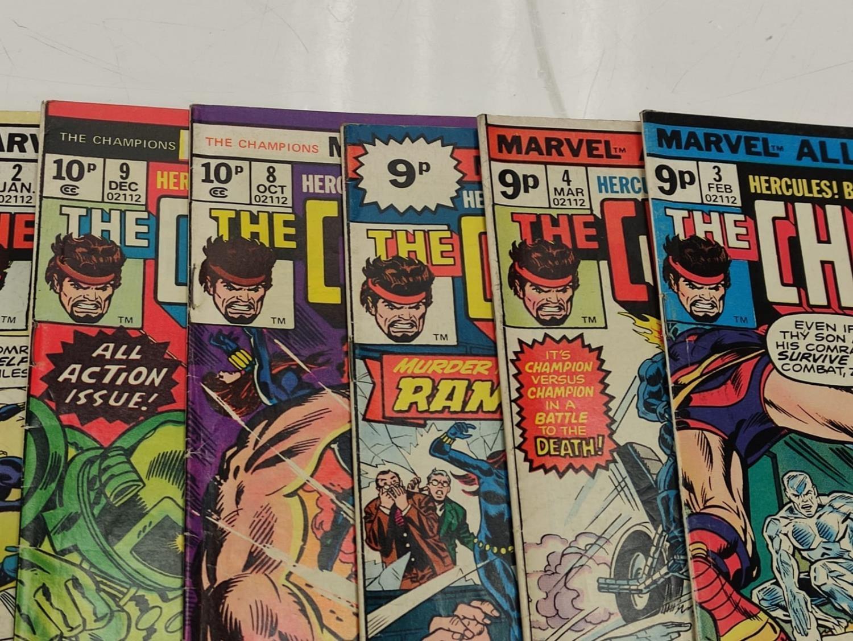9 Copies of Vintage Marvel 'The Champion' Comics. - Image 6 of 14