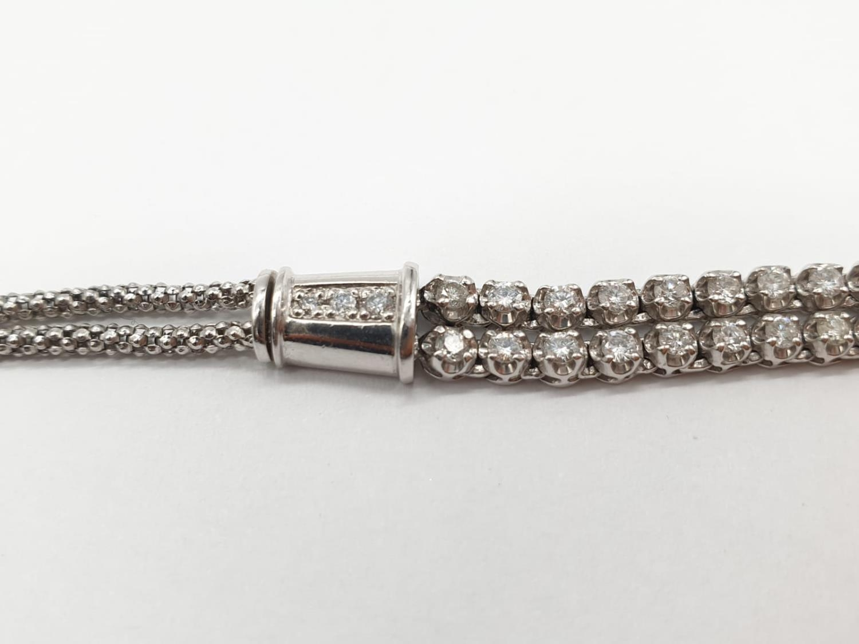 Platinum and Diamond Choker Necklace, double strand with graduated Diamonds (5ct Diamonds), 33g, - Image 5 of 9