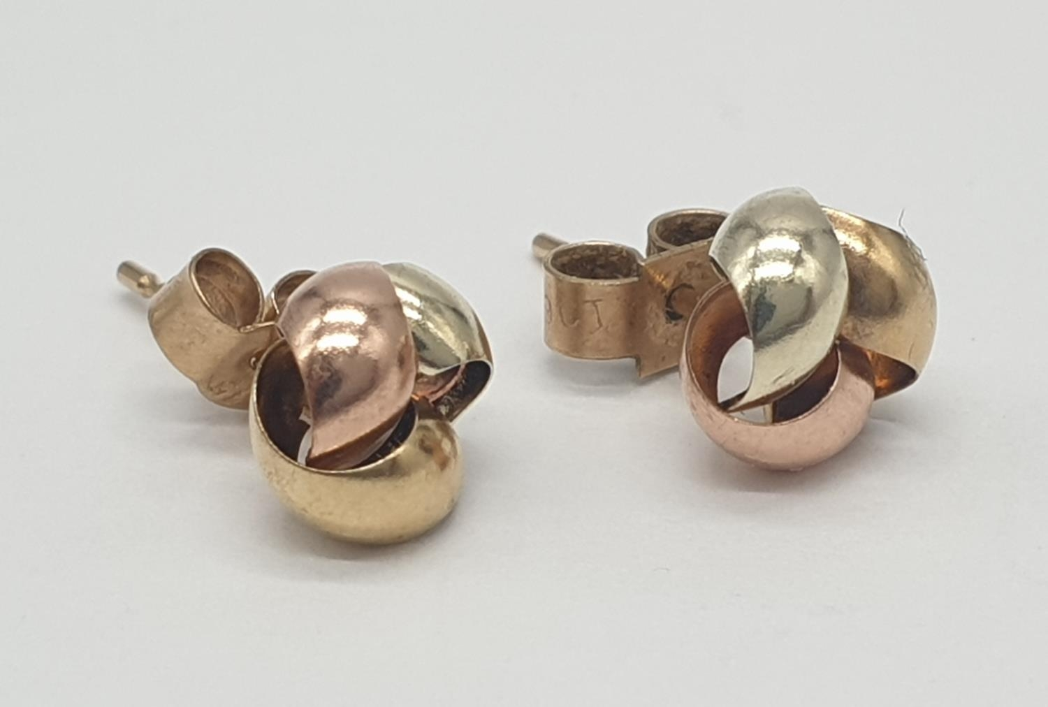 2x pairs of 9ct gold earrings (2) - Image 4 of 5