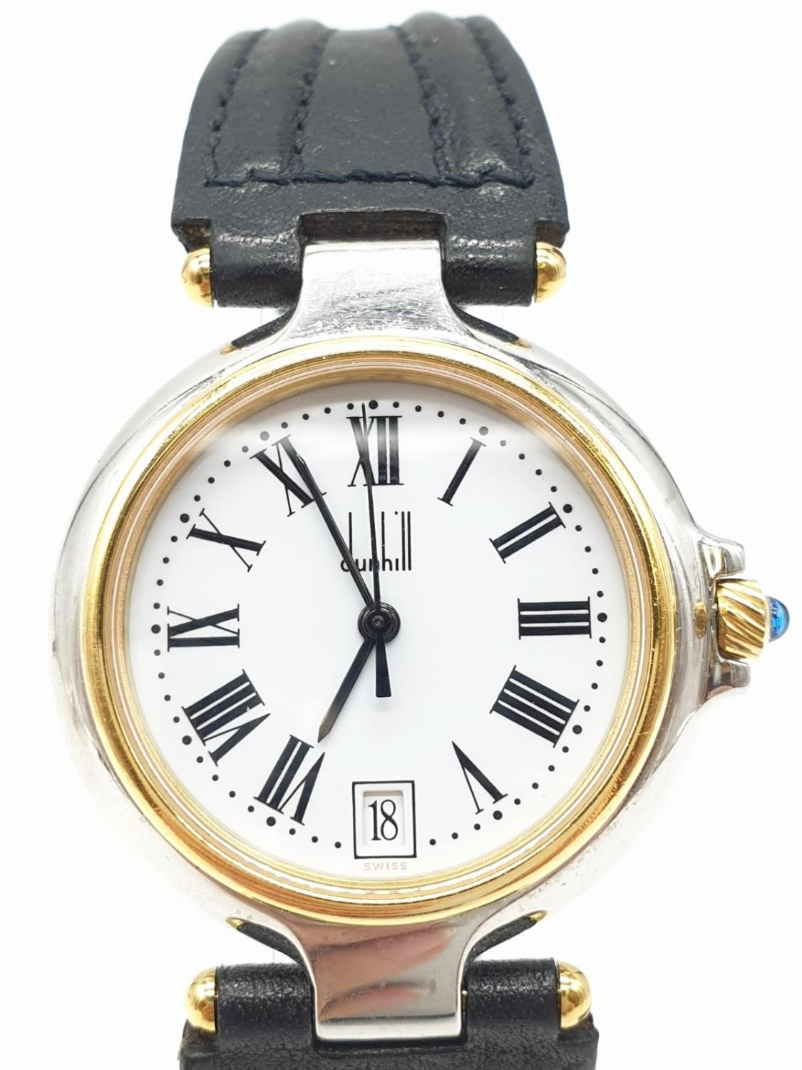 Dunhill Unisex Quartz Watch. New and Unworn. White Face with Roman Numerals. - Image 3 of 4
