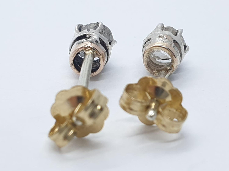 Pair of Diamond STUD EARRINGS. - Image 3 of 3