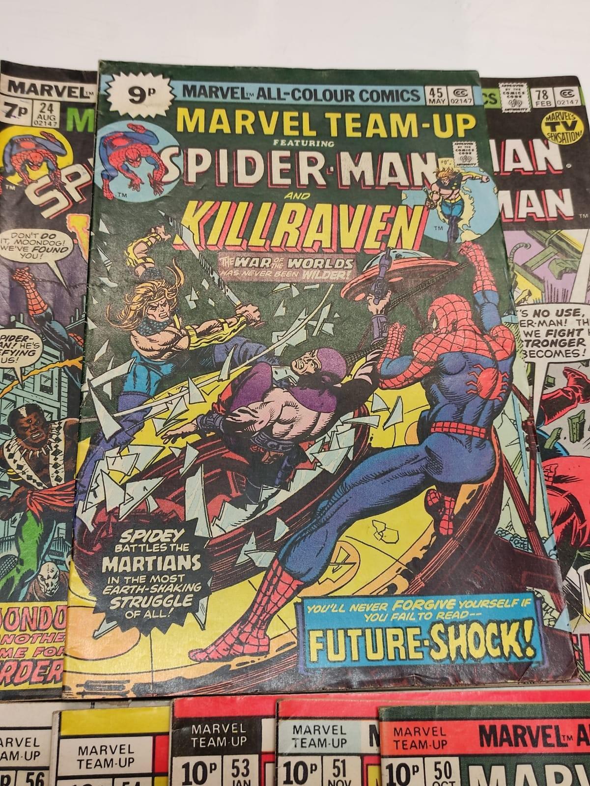 24 x Marvel comics. Marvel Team-Up featuring Spider-Man. 1977 - 1980. - Image 4 of 10
