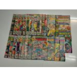 29 x Marvel comics. The Invaders. Dating from 1975 - 1978.