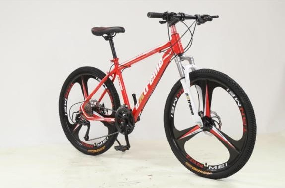 """Mountain bike in red and white 27 speed gears with 26"""" and 3 pin mag wheels (as new, never used) - Image 2 of 2"""