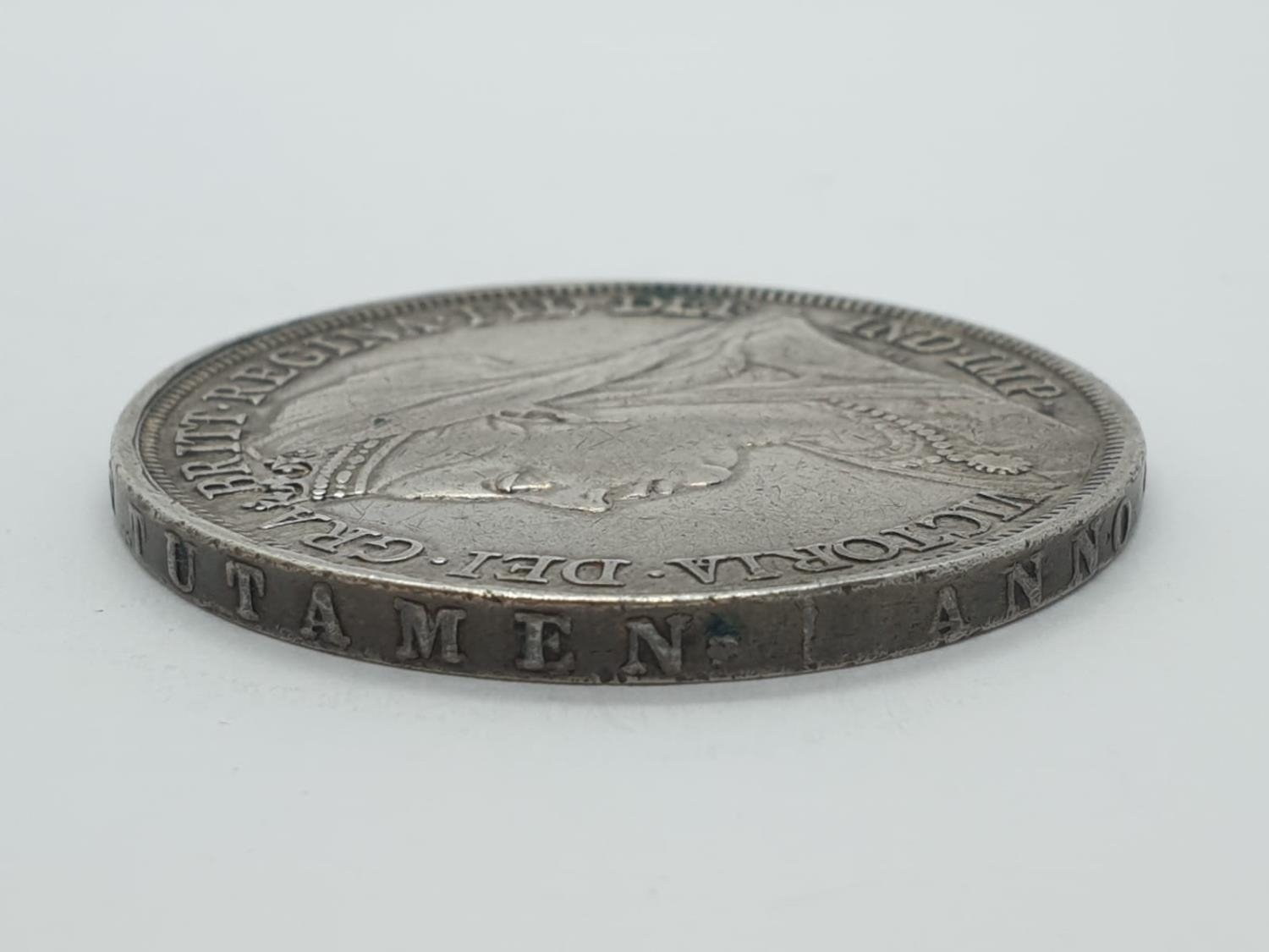 1893 Victorian silver crown - Image 5 of 5