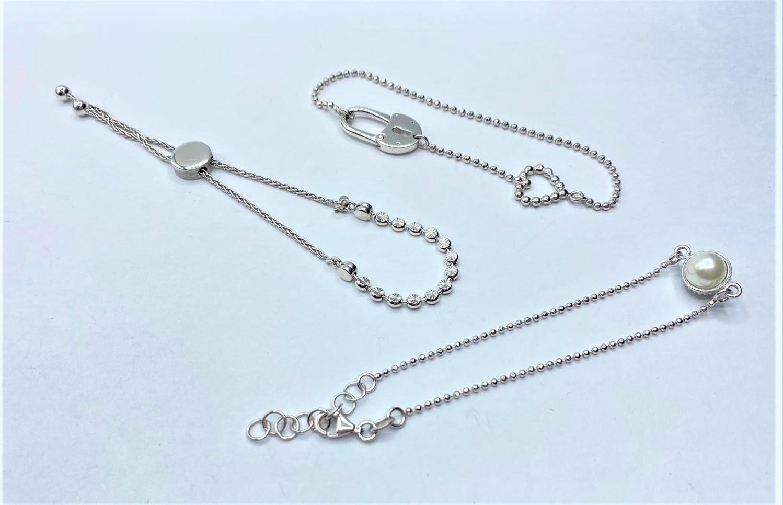 3 x Silver BRACELETS. 13.6g