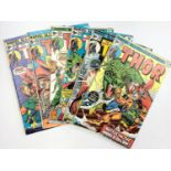 6 editions of Vintage Marvel 'The Mighty Thor' comics.