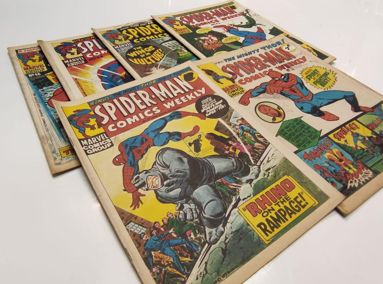 6 x Marvel comics. 1973 Spider-Man comics weekly. - Image 3 of 13