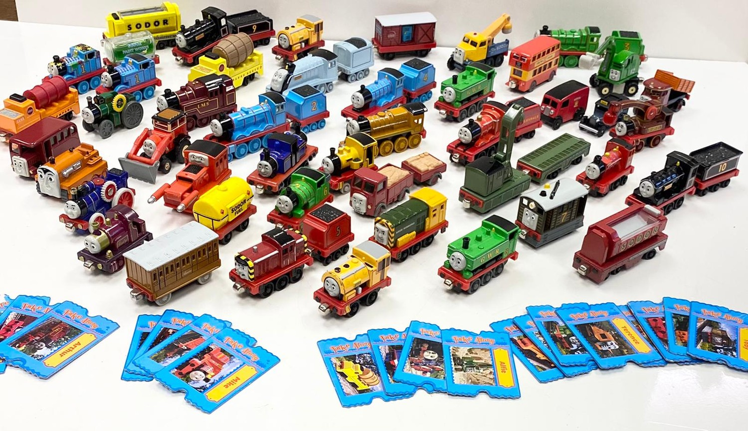 Collection of Thomas & Friends, Take-Along Die Cast toys. Total of 45 models including Mighty Mac