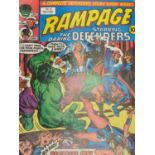 7 editions of vintage Rampage Comics 'The Daring Defenders.