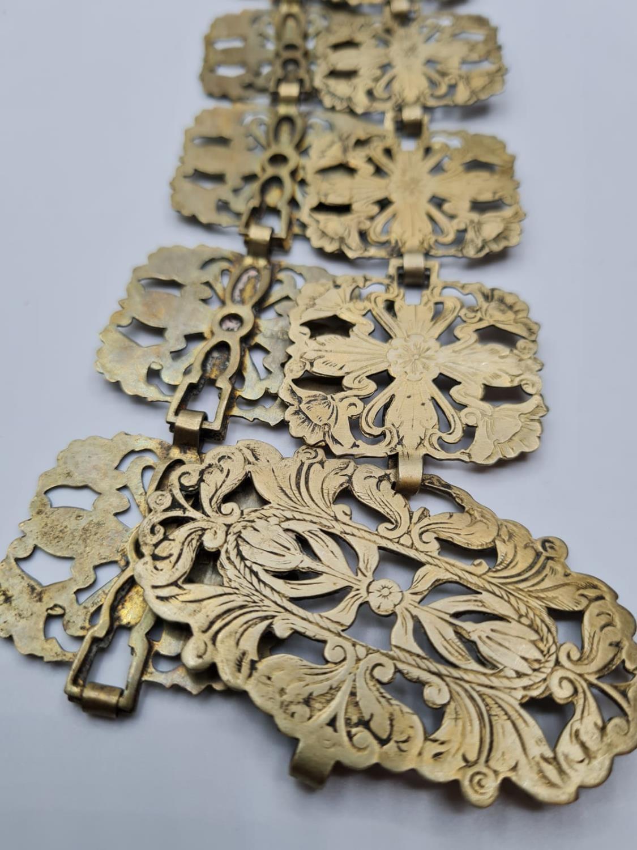 Vintage Pierced Floral Epns 'Nurses' Type Belt. - Image 2 of 3