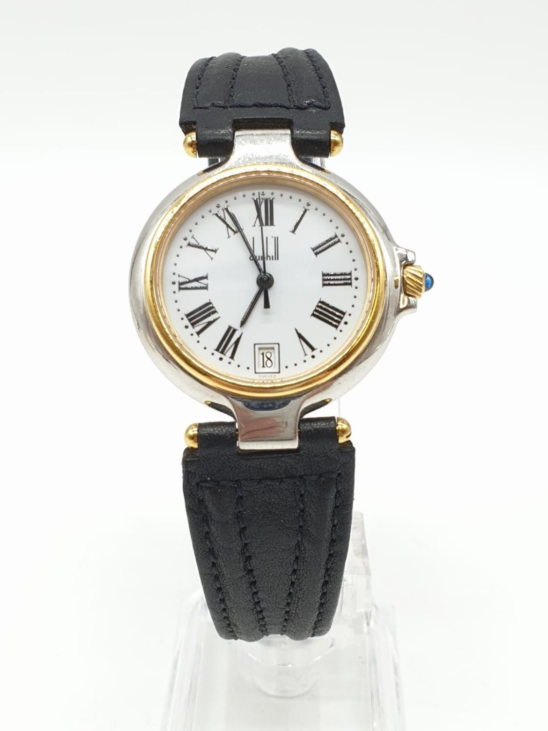 Dunhill Unisex Quartz Watch. New and Unworn. White Face with Roman Numerals.