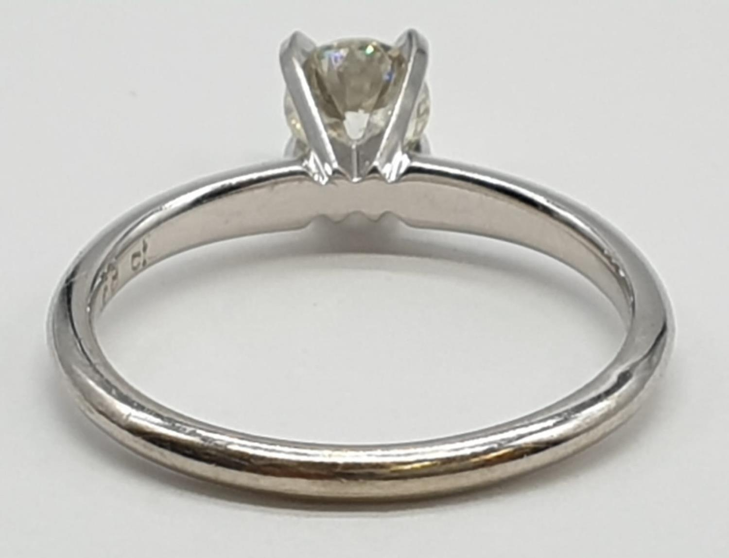 14ct white gold with 0.56ct diamond solitaire ring (round brilliant cut, colour H, clarity SI1 - Image 11 of 18