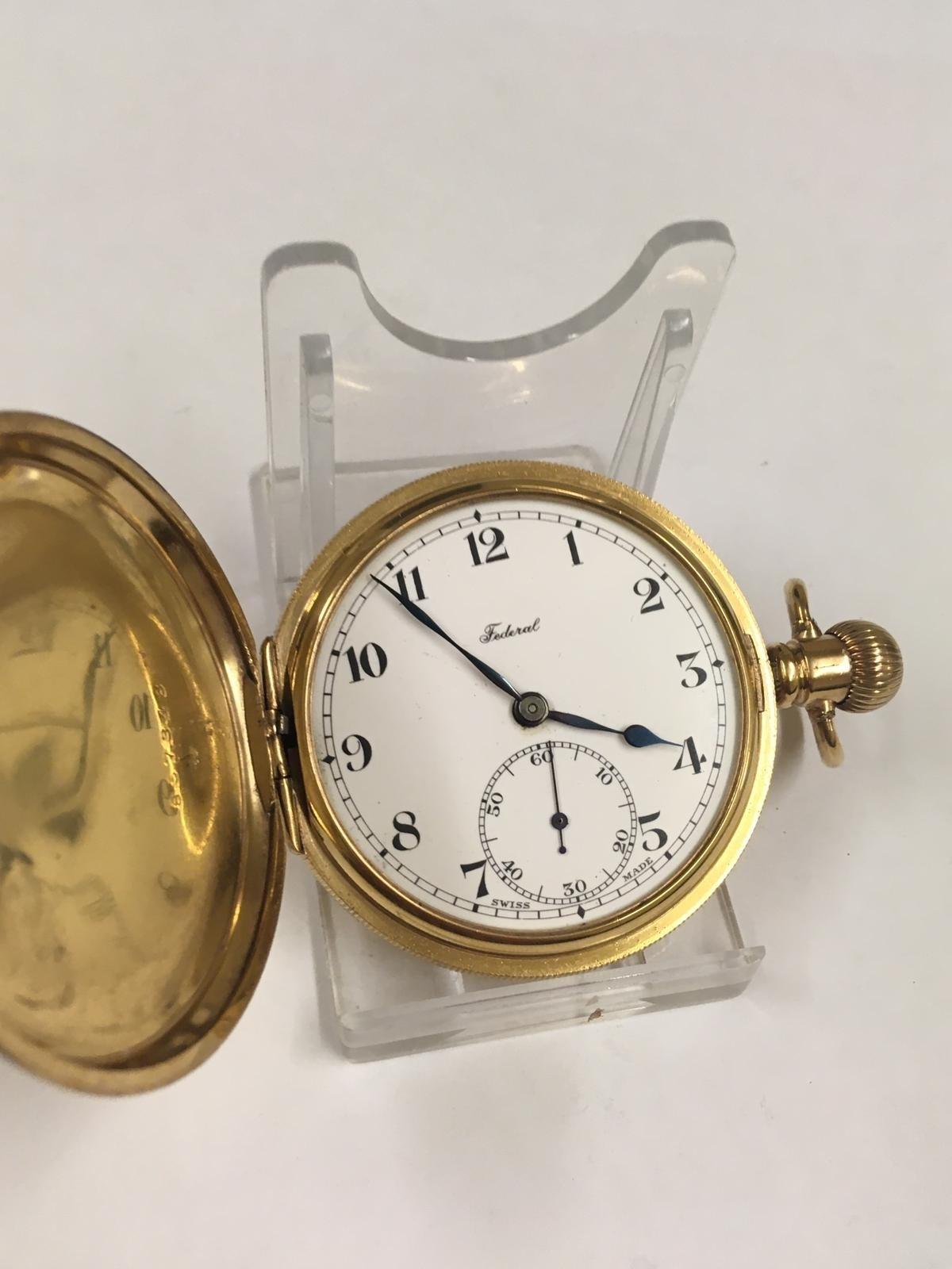 Vintage full hunter pocket watch (AF) - Image 7 of 9