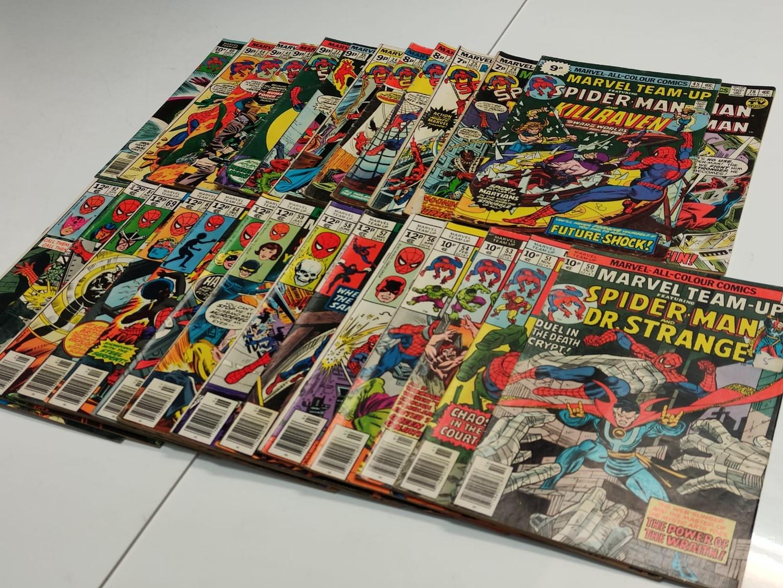 24 x Marvel comics. Marvel Team-Up featuring Spider-Man. 1977 - 1980. - Image 3 of 10