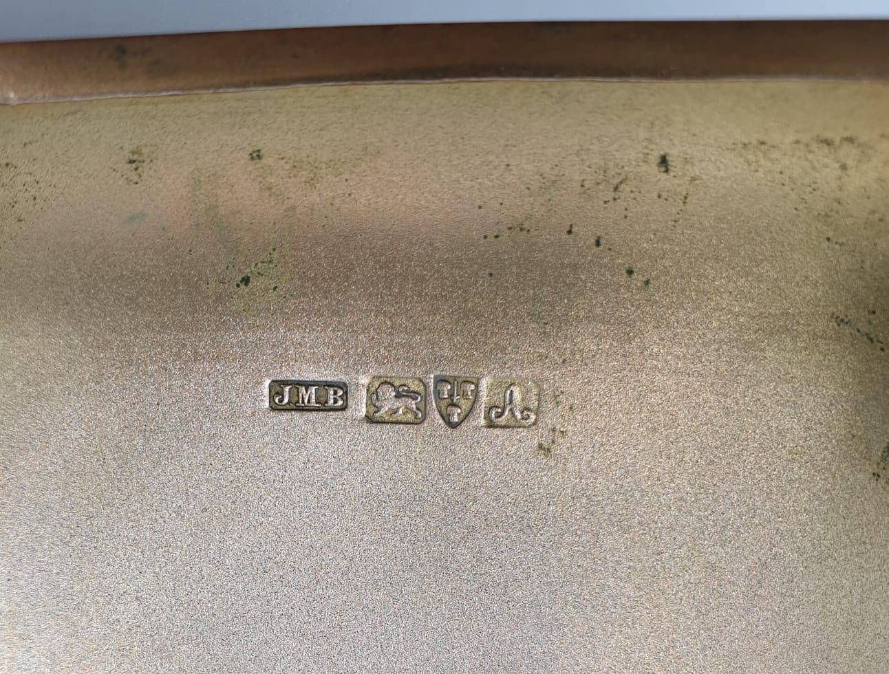 Edwardian John Millward Banks, Sterling Silver Cigarette Case Box with engraving on front, - Image 7 of 8