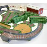 Vintage Thomas & Friends Train Track featuring turntable, engine shed and 2 bridges.