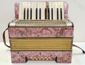 Childs Accordion, Working bellows, Missing ivory key.