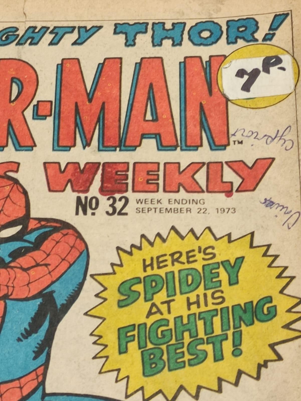 6 x Marvel comics. 1973 Spider-Man comics weekly. - Image 8 of 13