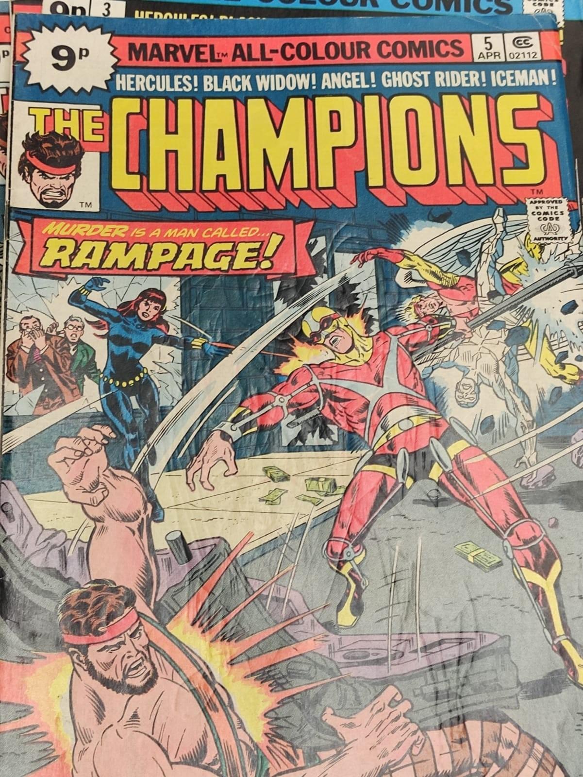9 Copies of Vintage Marvel 'The Champion' Comics. - Image 3 of 14