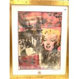 A Pietro Psaier work in the Warhol style with certificate of authenticity and signed personally in