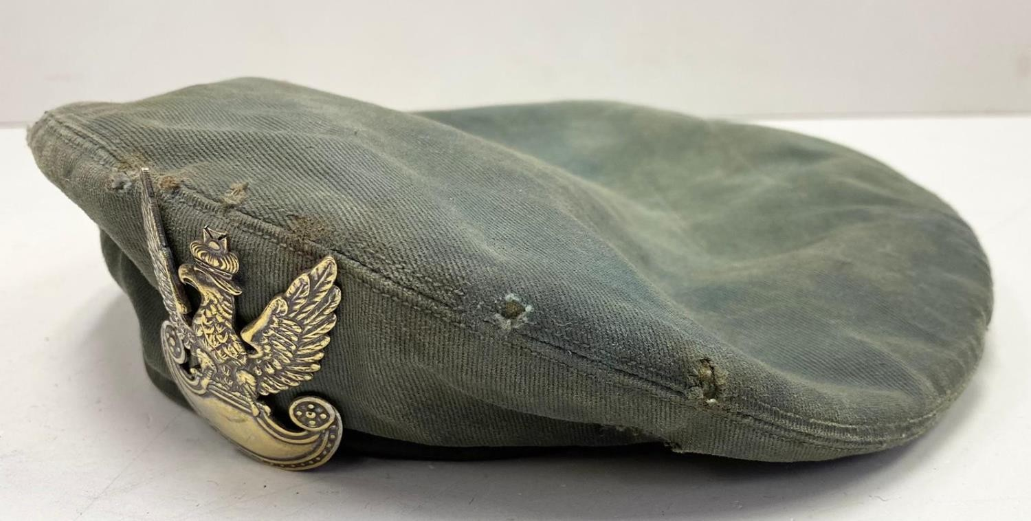 WW2 Polish Beret. In ?Been There? condition. - Image 3 of 3