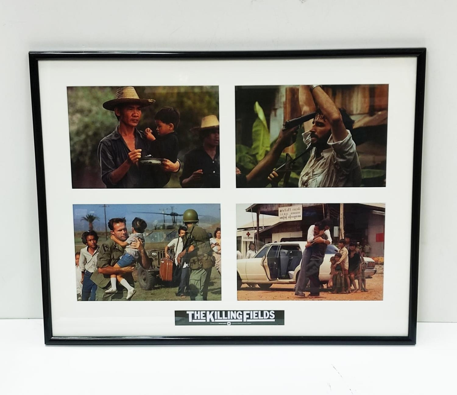 Framed and Glazed original film photographs from the film 'The Killing Fields'. Frame dimensions