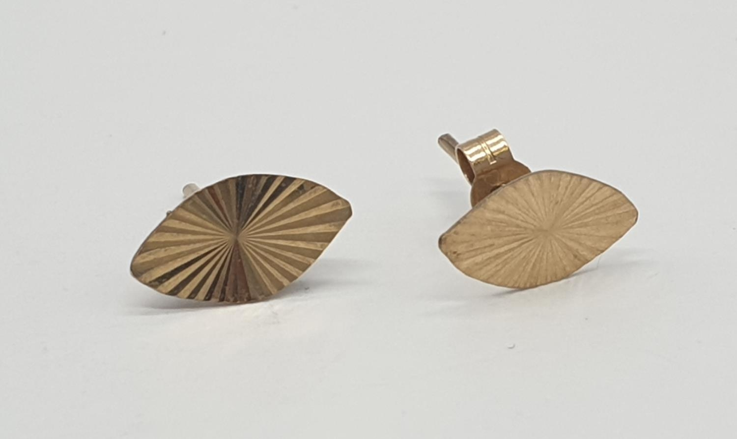 2x pairs of 9ct gold earrings (2) - Image 5 of 5