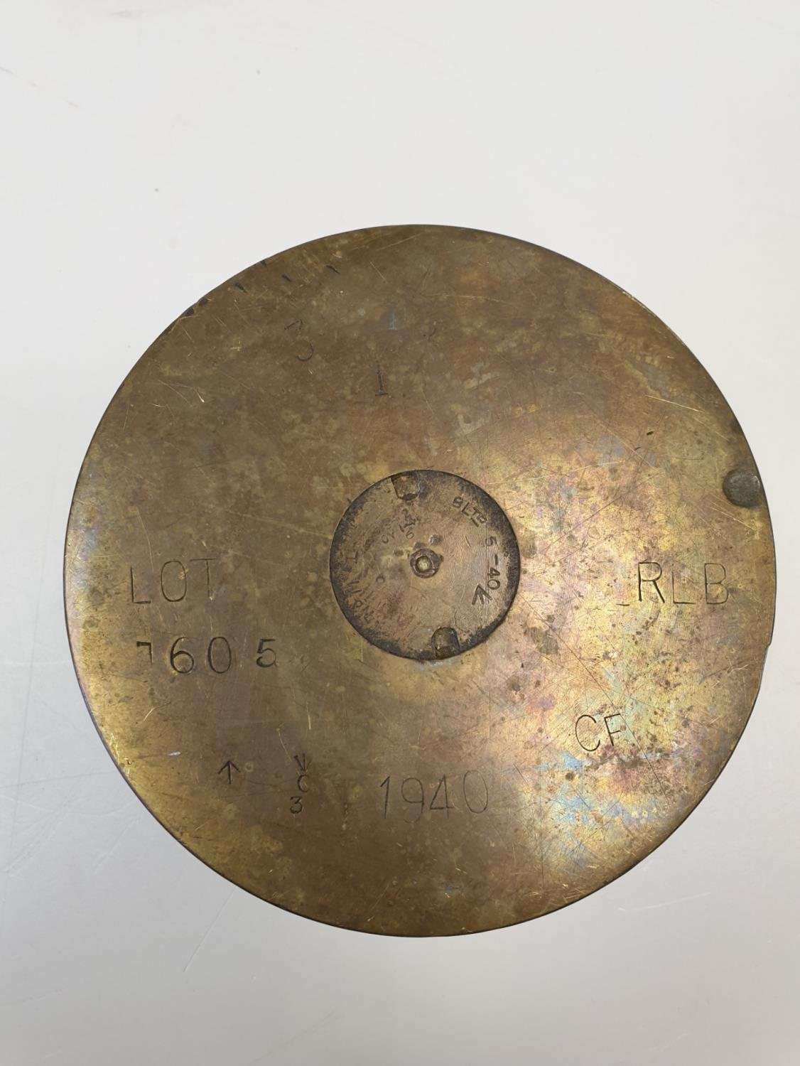 WWII Trench Art Shell Ashtray - Image 3 of 3