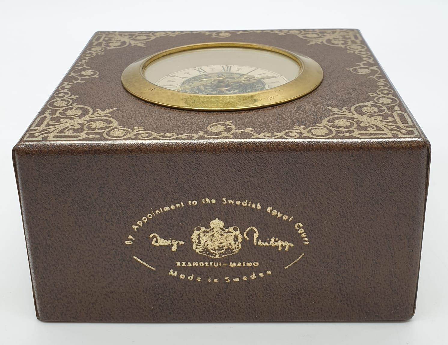 Vintage Mantle Wind-up Clock by Meccedes Phillip Skandetui Malmo, Swedish Designer. 10.5 x 10.5cm. - Image 3 of 7