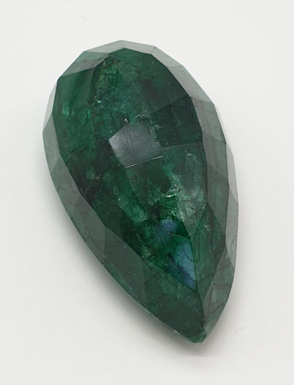 184ct Large Size Emerald Gemstone Pear Shape GLI CERTIFIED - Image 3 of 9