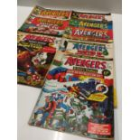 17 editions of Vintage 'The Avengers' Marvel Comics.
