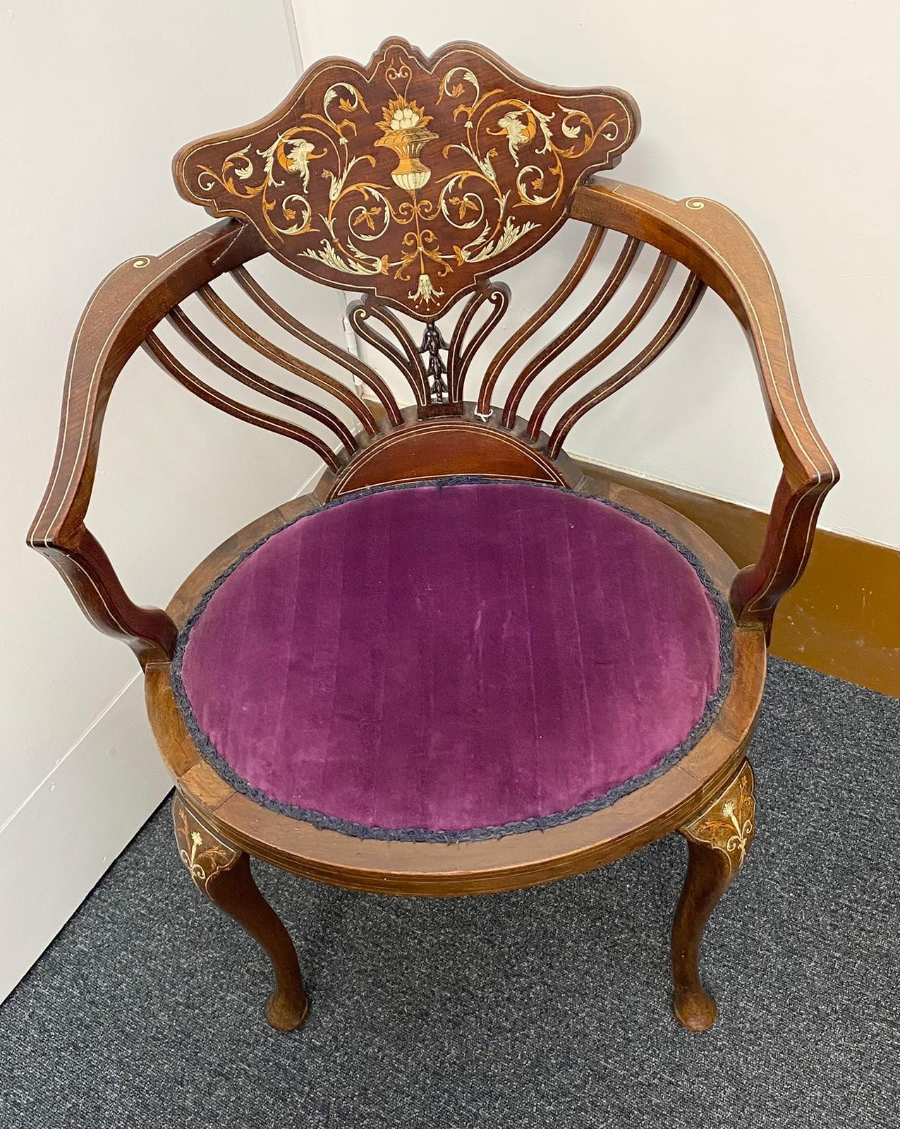 Designed by Stephen Web for Collinson and Lock and Sold by Waring & Gillow in 1890 to the Thomas