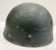 WW2 British Para Helmet. Late War type with original canvas chin strap. The liner is WW2 design