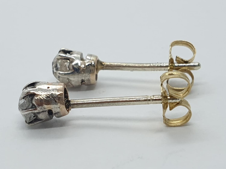 Pair of Diamond STUD EARRINGS. - Image 2 of 3