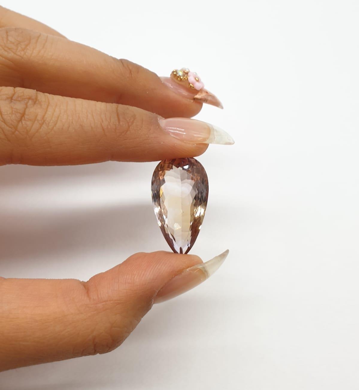 22.14ct Ametrine Pear Shape ITLGR CERTIFIED - Image 6 of 7