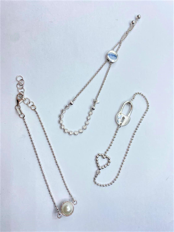 3 x Silver BRACELETS. 13.6g - Image 2 of 2