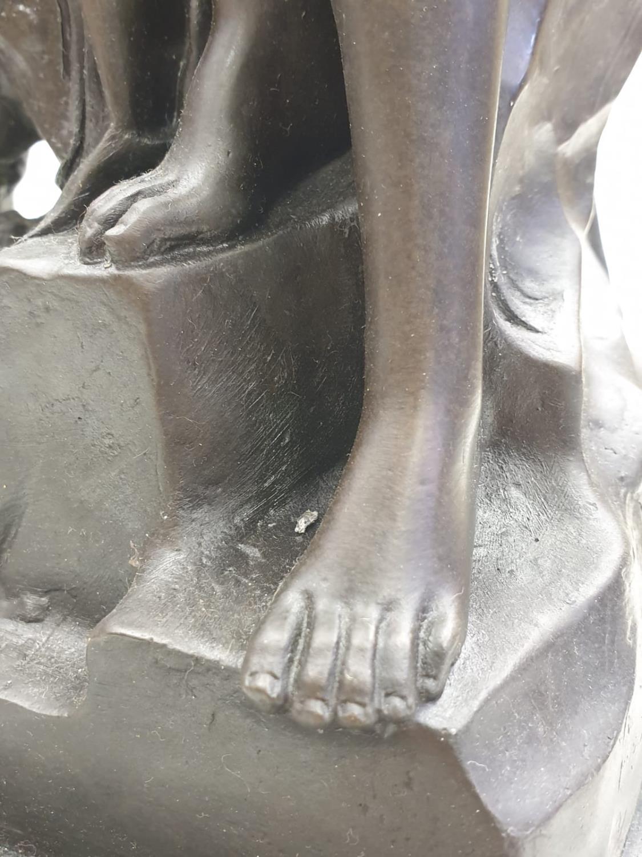 Bronze Pierre Julien figurine on plinth. 'Amalthea and Jupiter's Goat'. Height 45cm. Weight 9.7kg - Image 27 of 27