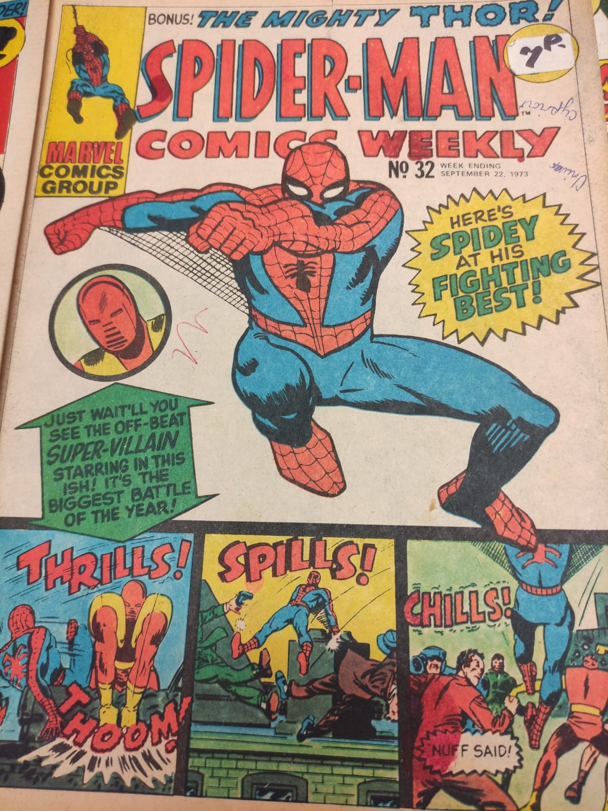 6 x Marvel comics. 1973 Spider-Man comics weekly. - Image 11 of 13