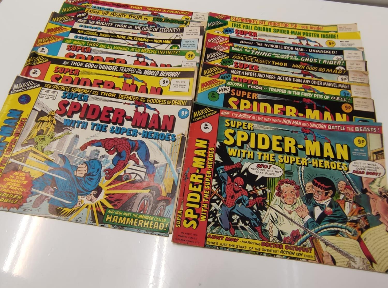27 editions of Vintage Super Spider-Man Marvel Comics. - Image 2 of 13
