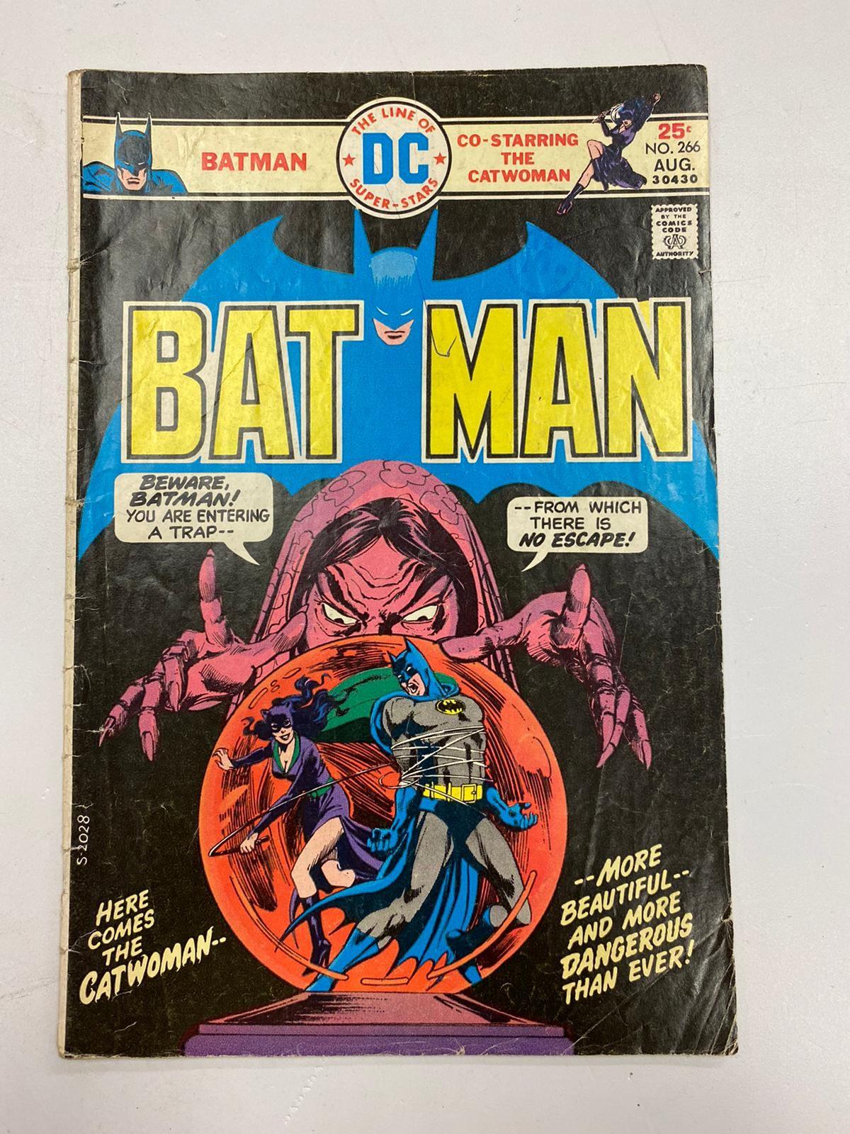 Vintage DC Comics - Batman (N0.266) in good condition.