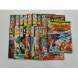 16 Vintage Marvel Super Heroes Comics including No.1 issue dated March 8 1975.