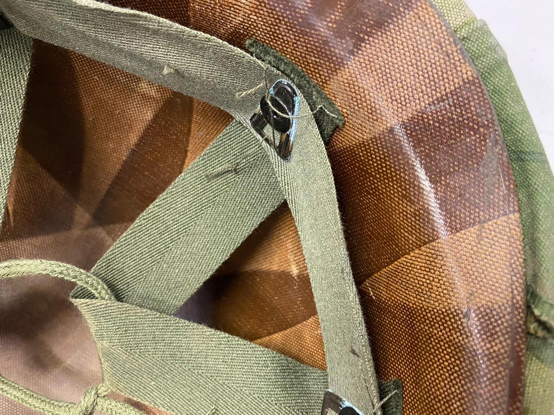 Vietnam War Era U.S.M.C Helmet. The Mitchel-Duck Hunter Reversible Helmet Cover is marked inside ? - Image 5 of 5