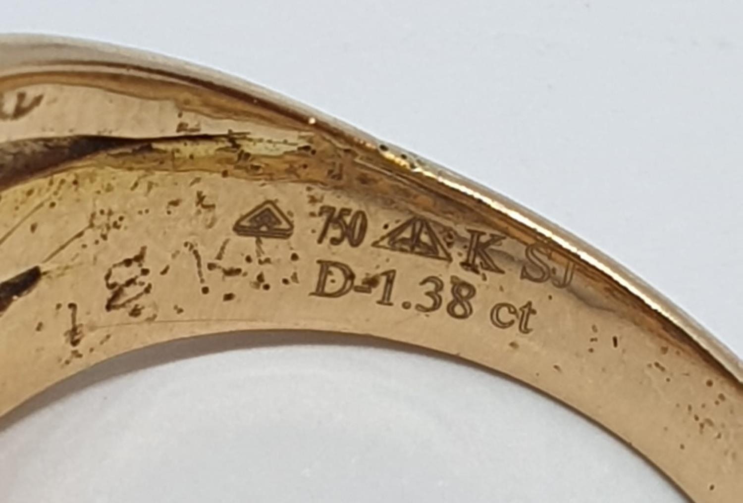 18ct Yellow gold diamond set fancy three row twist band ring. Weight 8.5g, Approx. 0.60ct of - Image 12 of 14