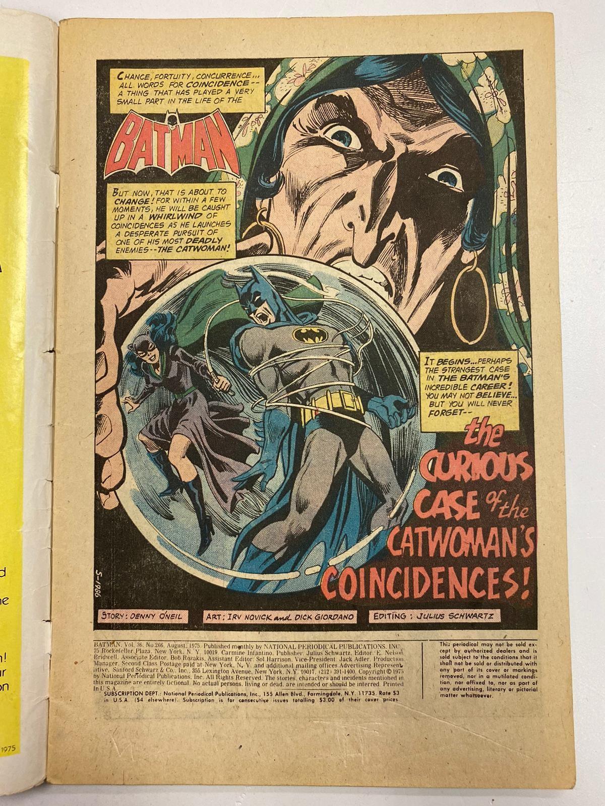 Vintage DC Comics - Batman (N0.266) in good condition. - Image 2 of 2